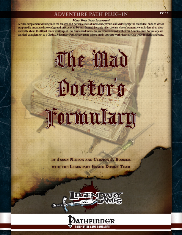 CC13-The Mad Doctor''s Formulary (Duplicate)