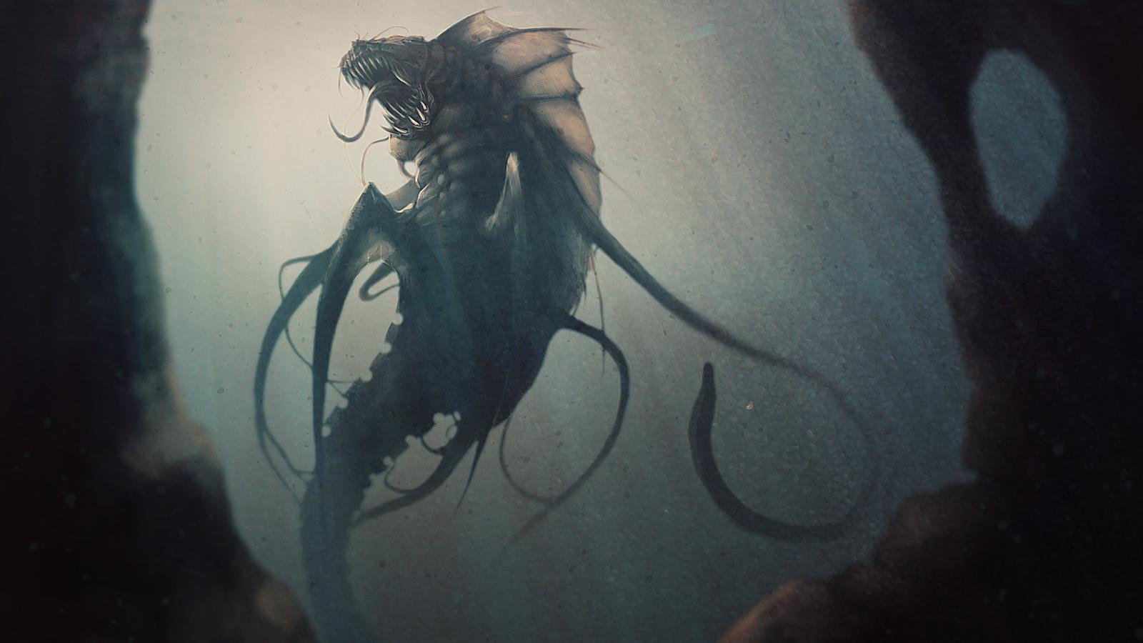 Strange things lurk below the waves...