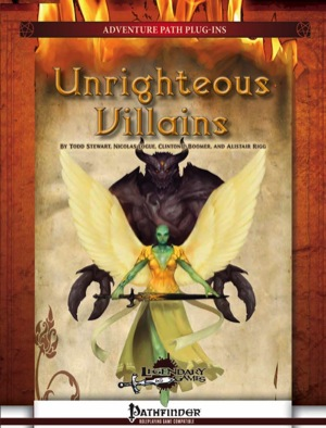 Unrighteous Villains web cover