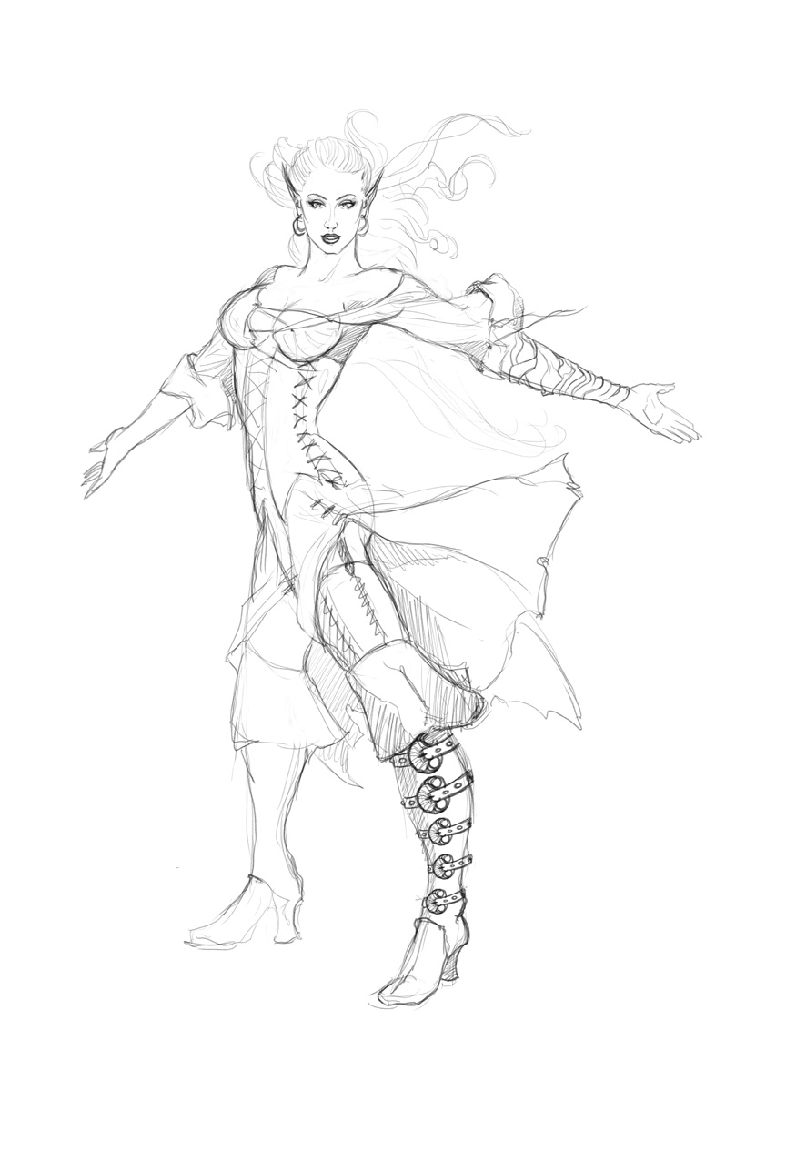 Nautical Heroes - Miri-2 sketch
