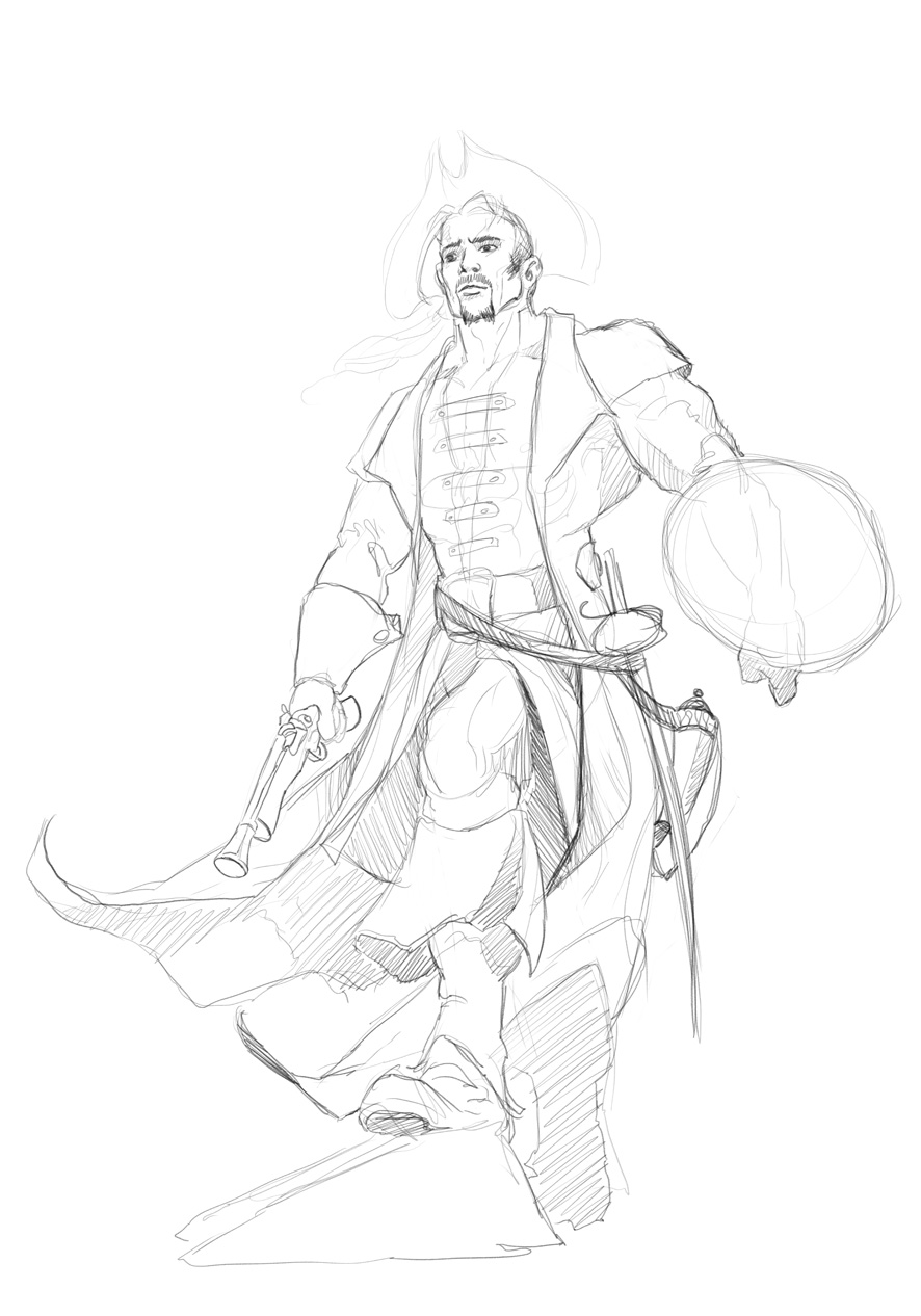 Nautical Heroes - Taren2 sketch