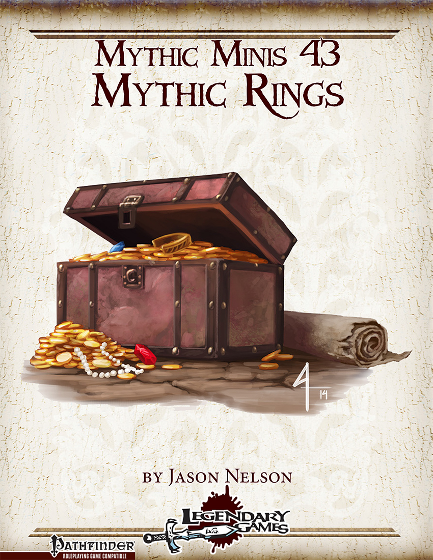 makeyourgamelegendary.com - Mythic Minis 43 - Mythic Rings (cover)