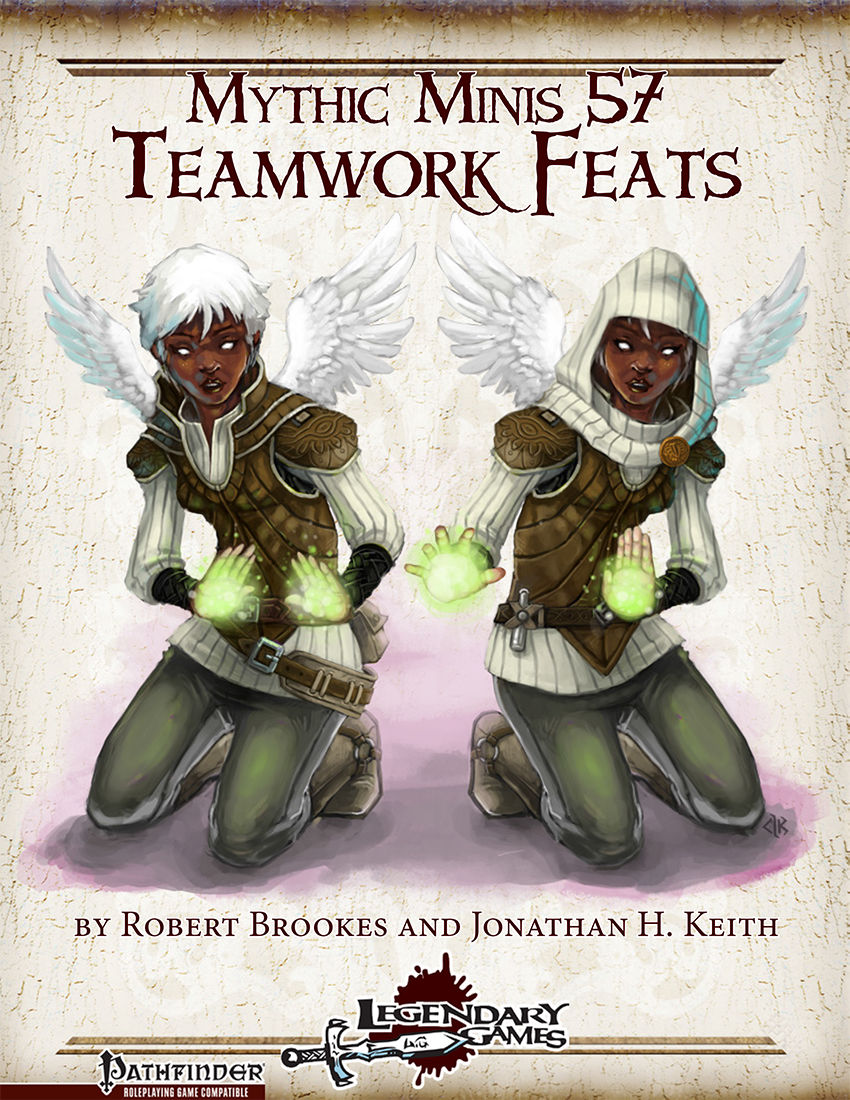 Mythic Minis 57 - Teamwork Feats cover