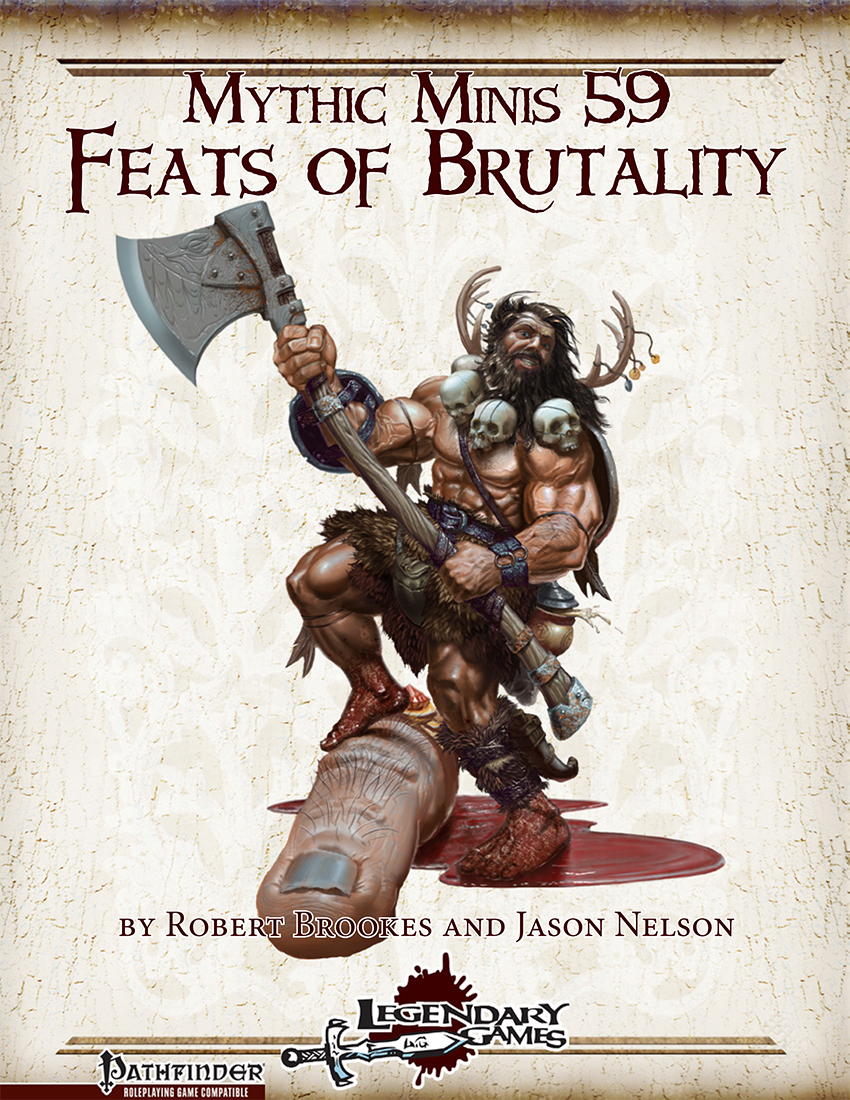 Mythic Minis 59 - Feats of Brutality Cover