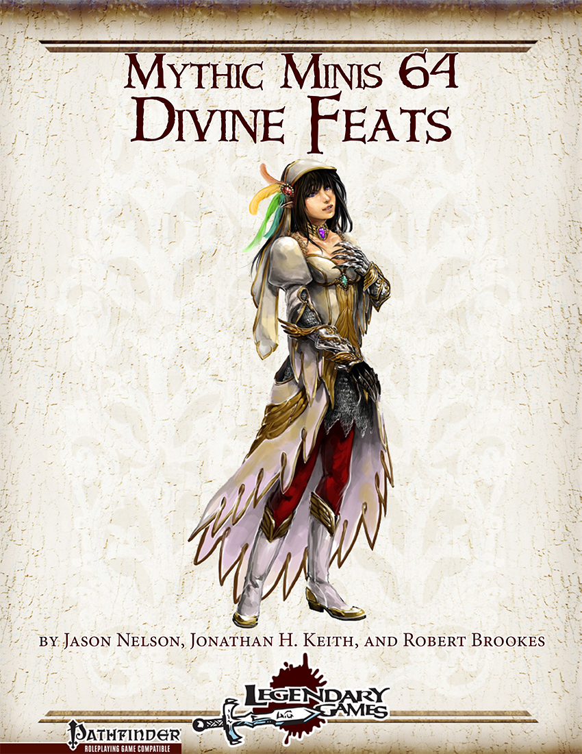 Mythic Minis 64 - Divine Feats cover