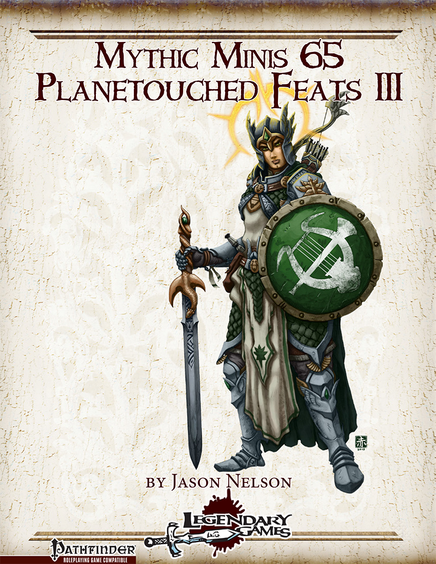 Mythic Minis 65 - Planetouched Feats III cover