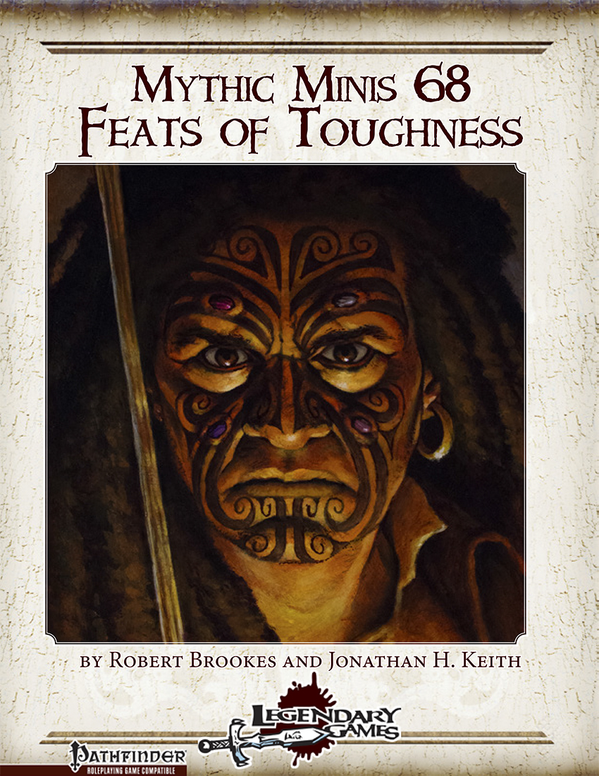 Mythic Minis 68 - Feats of Toughness (cover)