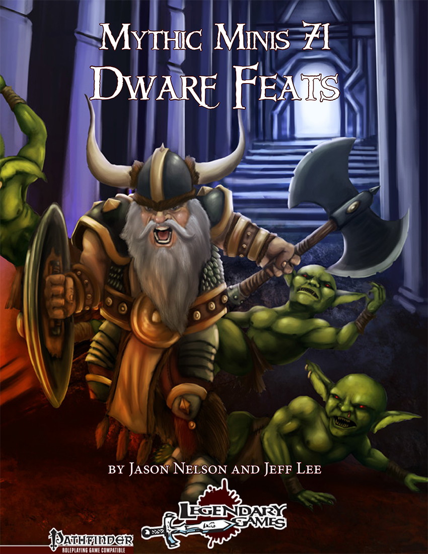 Mythic Minis 71 - Dwarf Feats cover