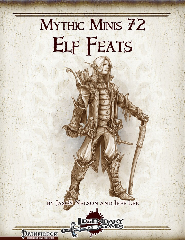 Mythic Minis 72 - Elf Feats (cover)