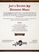 Just a Second #3: Defensive Magic